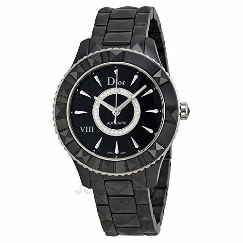 c20ad2ca6781 Christian Dior Cristiano Dior VIII Diamante Negro Cerámica y Acero Damas  Reloj CD1245E0C002  goldia  Amazon.es  Relojes