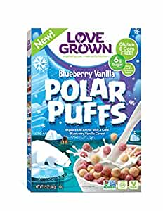 Love Grown Kids Cereal Polar Puffs, Blueberry Vanilla, 6.5 Ounce
