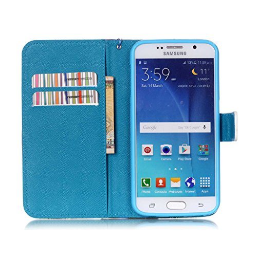 Galaxy S6 Coque , Samsung Galaxy S6 Coque Lifetrut® [ the iPhone is Locked ] [Wallet Fonction] [stand Feature] Magnetic snap Wallet Wallet Prime Flip Coque Etui pour Samsung Galaxy S6