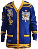 Sigma Gamma Rho Sweater - Royal Blue and Gold (Large)