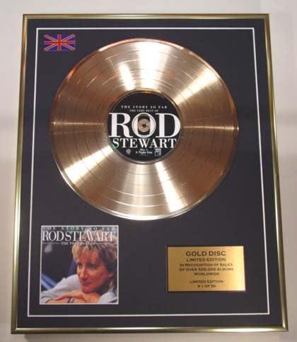 Rod Steewart//CD Gold Disc Schallplatte Limited Edition//The Very Best of Rod Steewart