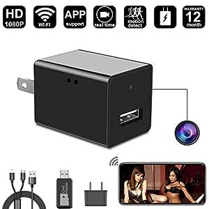 Mini Hidden Camera, DigiHero HD 1080P Wall Charger Camera/Nanny Mini Camera, Security Camera. Can Charge Phone While Recording