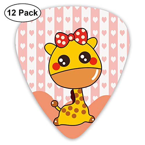 - JsMuryobao Guitar Picks Custom Cool Unique Design for Electric Acoustic Bass Ukulele Giraffe Eat The Cloud Moom