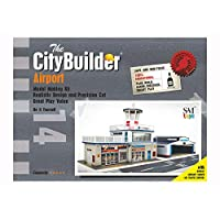 The CityBuilder Airport & Hanger Cardboard Model Making Kit - O Scale Model Railroad Building
