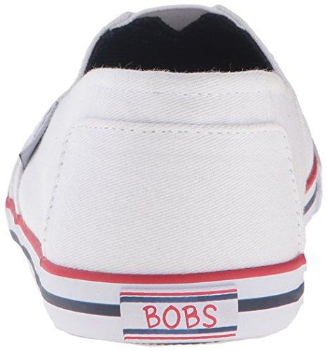 Skechers Bobs Womens Lotopia Pleasant Platt Vit / Svart / Röd