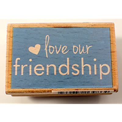 Love our Friendship Words Writing Quote Studio G Wooden Rubber Stamp: Arts, Crafts & Sewing