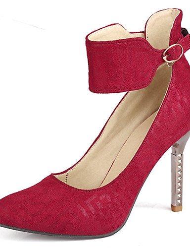 GGX/Damen Schuhe Stiletto Heel Spitz Zulaufender Zehenbereich Ankle Strap Pumpe mehr Farbe erhältlich black-us6.5-7 / eu37 / uk4.5-5 / cn37