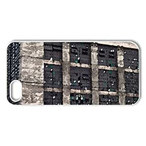 Abandoned Train Station - Case Cover for iPhone 5 and 5S (Watercolor style, White)