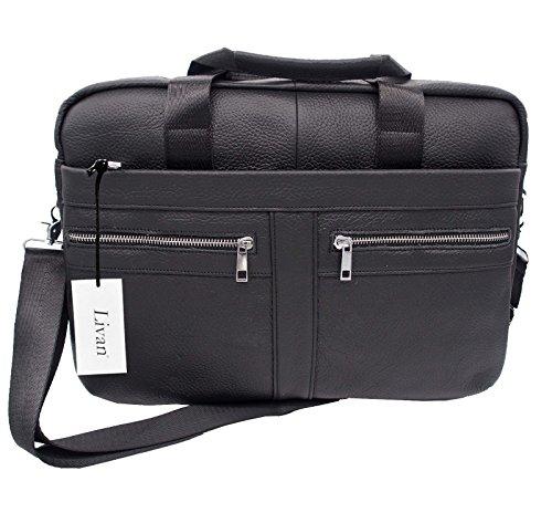 Leather Tote Man Livan Bag Black a4wnTt