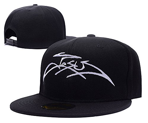 HENGYUN Religious Christian Jesus Name Logo Adjustable Snapback Embroidery Hats Caps (Religious Accessories)