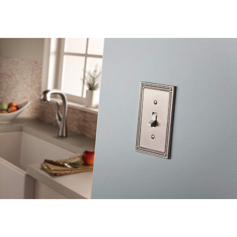 Franklin Brass W35066-SN-C Classic Beaded Triple Switch Wall Plate/Switch Plate/Cover, Satin Nickel by Franklin Brass (Image #2)