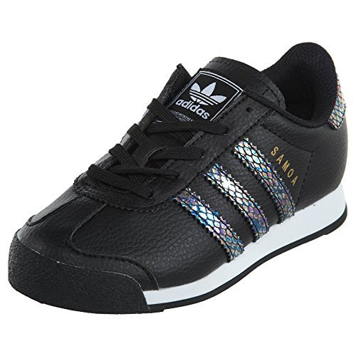 Adidas Samoa C Snake Little Kids Style: BW1298-Blk/Blk/Wht Size: 11 Y US - Kid Snake Girl Shoe