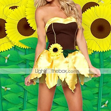 QINF Fancy Sunflower Fairy Halloween Costume (2 Pieces)