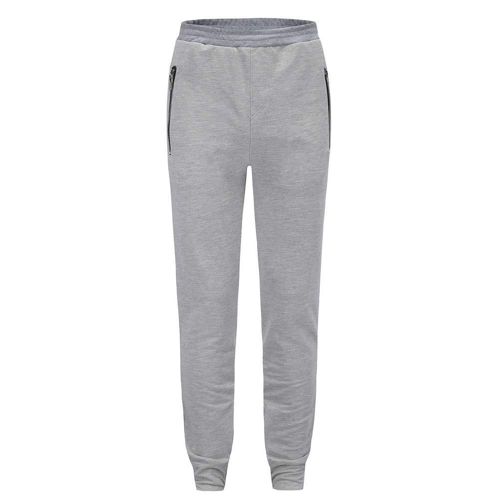 Molyveva Men Pants APPAREL メンズ Large グレー B07GWNY6K8