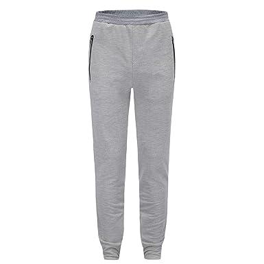6d040b2bce1a49 LandFox-Pantaloni Pantaloni Sportivi da Uomo Casual Tuta da Uomo con  Cerniera Tuta Casual da