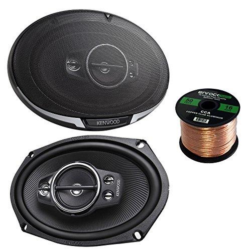 "Kenwood KFC6995PS 6X9"" 650W 5-Way Speakers , and Enrock Audi"