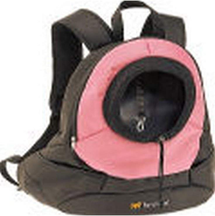 Ferplast Mochila DE Viaje KANGOO Small Pink, Negro, Mediano