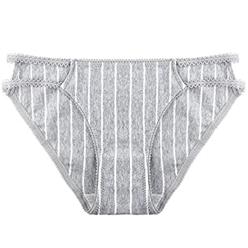 Rey&Qing Ropa Interior Femenina Femenina Pantalones De Algodón Algodón Talla De Cintura Señora Briefs,M