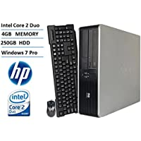 HP DC7800 Small Form Factor Desktop Computer (Intel Core 2 Duo 2.53GHz Processor), 4GB DDR2 RAM, 250GB HDD, DVD, Windows 7 Professional (Certified Refurbished)