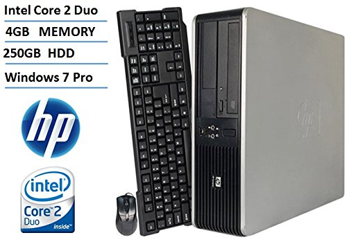 HP DC7800 Small Form Factor Desktop Computer (Intel Core 2 Duo 2.53GHz Processor), 4GB DDR2 RAM, 250GB HDD, DVD, Windows 7 Professional (Certified Refurbished)