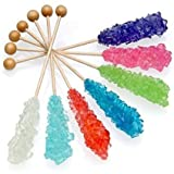 Swizzle Sticks ~ Rock Candy ~ 14 Sticks, Assorted Flavors, Yankee Traders Brand