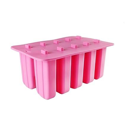 Molde del helado del silicón con la tapa/caja de paletas de paletas caseras no