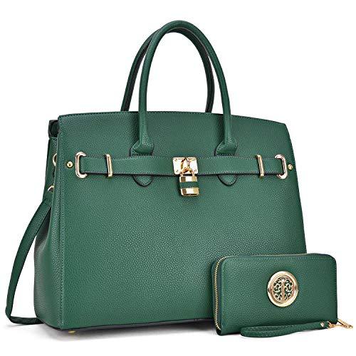 Women's Fashion Packlock Handbags Signature Designer Purse Designer Satchel handbag for Women(03-1006-W-D.GN)