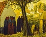 Canvas Prints Of Oil Painting 'Wedding Procession On Their Way To The Church,1920 - Best Reviews Guide