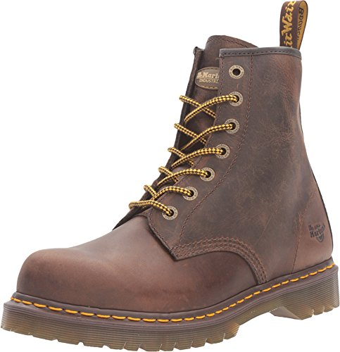 10 Slip Resistant NS 7 Eye Boots, Brown Leather, 10 M UK, 11 M US (Dr Martens Work Shoes)