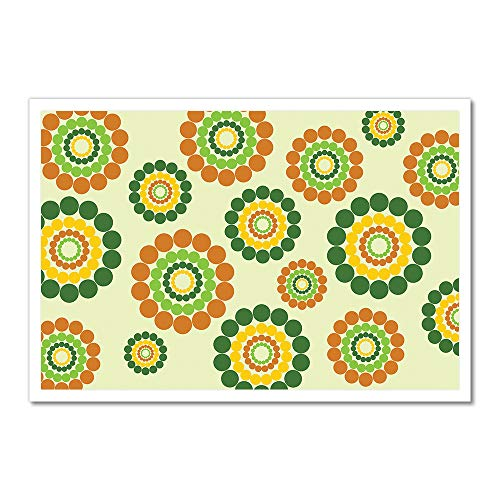 MightySkins Hippie Flowers Artwork | Choose from Canvas or A
