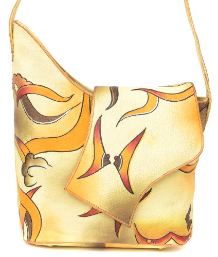 ZIMBELMANN SOPHIE Genuine Nappa Leather Hand-painted Tote Shoulder Bag by Zimbelmann