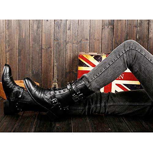 Boot Militare Uomo Labelsize39 A Combattimento Black EU39 5 Boots Antiscivolo Classic Horse Tall Riding Da WKNBEU UK5 Trekking Lace Up Black Army Outdoor Lunghi Impermeabile Stivali Scarpe 85dfqBwfF