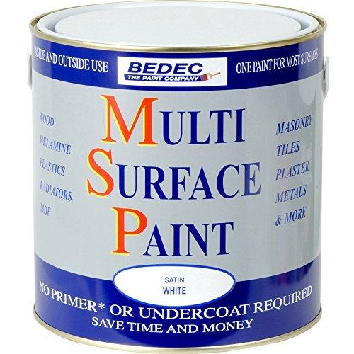Bedec Multi Surface Paint Satin White 2.5L