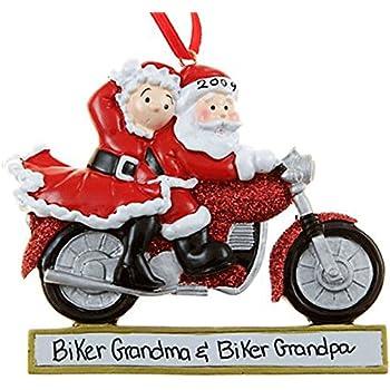 Amazoncom Personalized MotorCycle Couple Santa Christmas Holiday