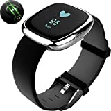 Igrosso Fitness Tracker Heart Rate Monitor - Smart Bracelet Waterproof Swimming Sport Wristband - Blood Pressure Monitor - Smart band Pedometer Calorie Smart Watch for Apple IOS Android phone (Silver)