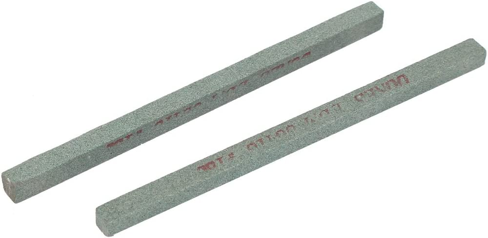 model: G7273IXII-2805HL Green 2 Pcs Aexit 180 Grit Rectangular Grinding Oil Stone Stick Afiladores
