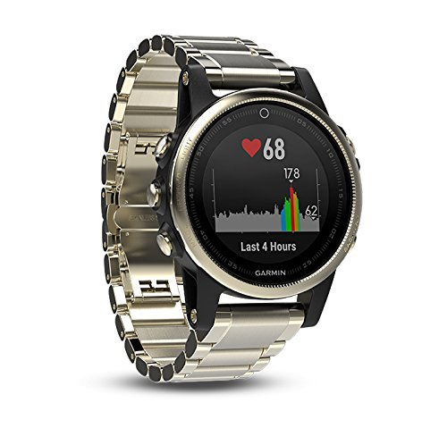 Garmin fenix 5S Sapphire (Champagne with Metal Band) GIFT BOX | Bundle includes Extra Band (Black), Screen Protector, PlayBetter USB Car/Wall Adapters, Protective Case | Multi-Sport Fitness GPS Watch by PlayBetter (Image #3)