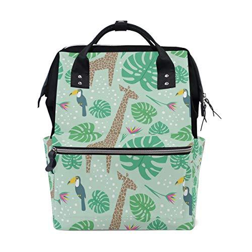 - Diaper Bag Backpack Cartoon Giraffe Floral Baby Nappy Bag Multifunction Travel Back Pack for Mom Girl