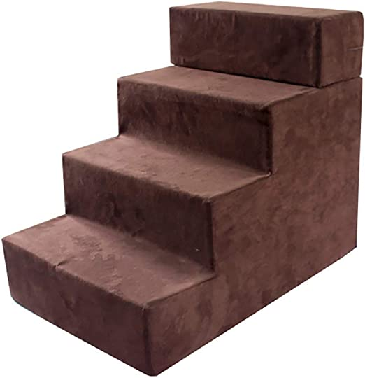 Escalera para Mascotas Escalera para 4 Escalones Escalera A La Cama Escalera para Escalar Lavado Removible Cubierta Cama Escalera De Rampa para Animales Productos para Mascotas, 40 X 60 X 50 Cm: Amazon.es: Hogar