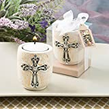 FavorOnline Cross Design Candle Tea Light Holders, 24