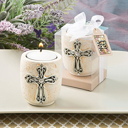 - FavorOnline Cross Design Candle Tea Light Holders, 12