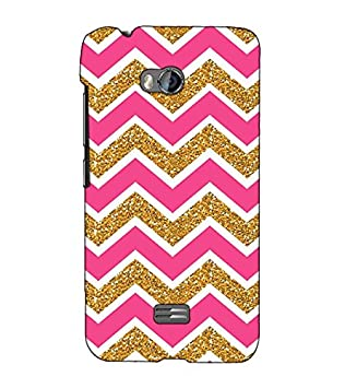 Fuson Designer Back Case Cover for Micromax Bolt Q336  Pink and golden pattern   Mobile Accessories