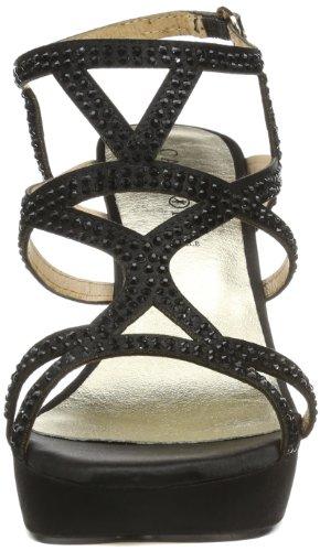 CAFèNOIR N/A - Sandalias con plataforma Mujer Negro (Schwarz (NERO 10))