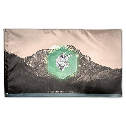 Garden Flag Wolf Mountain Scenery Background Outdoor Yard Home Flag Wall Lawn Banner Polyester Flag Decoration 3' x 5'
