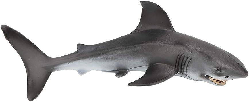 Pl/ástico Animal Marino tibur/ón Estatua Juguete Vida Marina ba/ño Tiempo Juguete Educativo para ni/ños Tnfeeon Juguete Modelo de tibur/ón Animal Marino