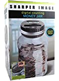 Sharper Image Digital Counting Coin Money Jar Piggy Bank