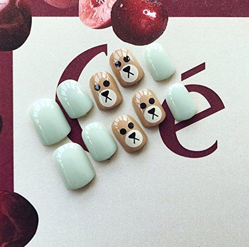 Uñas postizas Jovono, con un bonito diseño, para mujer y niña (sin pegamento): Amazon.es: Belleza