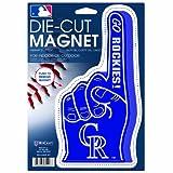 MLB Colorado Rockies Die Cut #1 Finger Logo Magnet