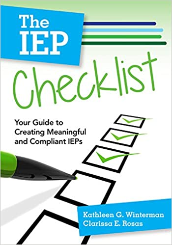 AmazonCom The Iep Checklist Your Guide To Creating Meaningful
