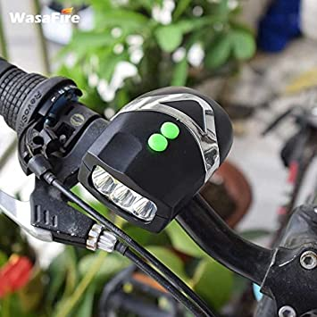 1baaf49ba73 Buy Lighter House Ultra Bright 3 LED Bicycle Light Cum Electronic Bell Horn  Hooter Cycling Bike Front Light Lamp White Head Waterproof Online at Low  Prices ...